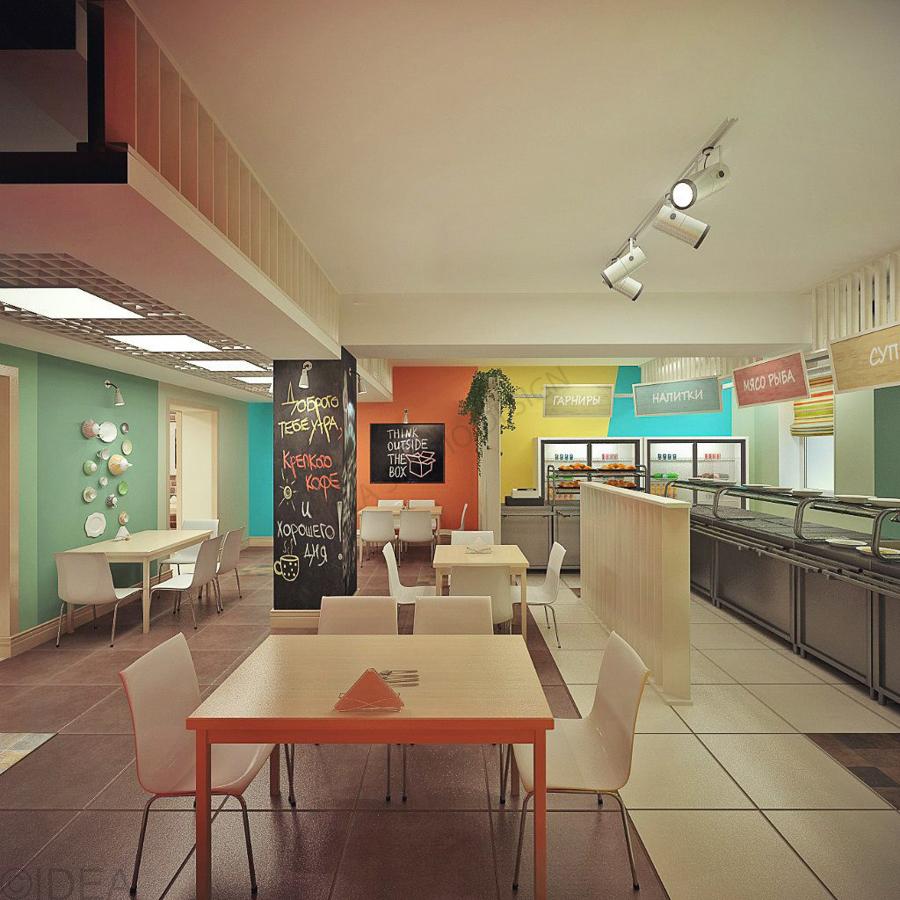 Дизайн студия IDEA интерьер общественный-211