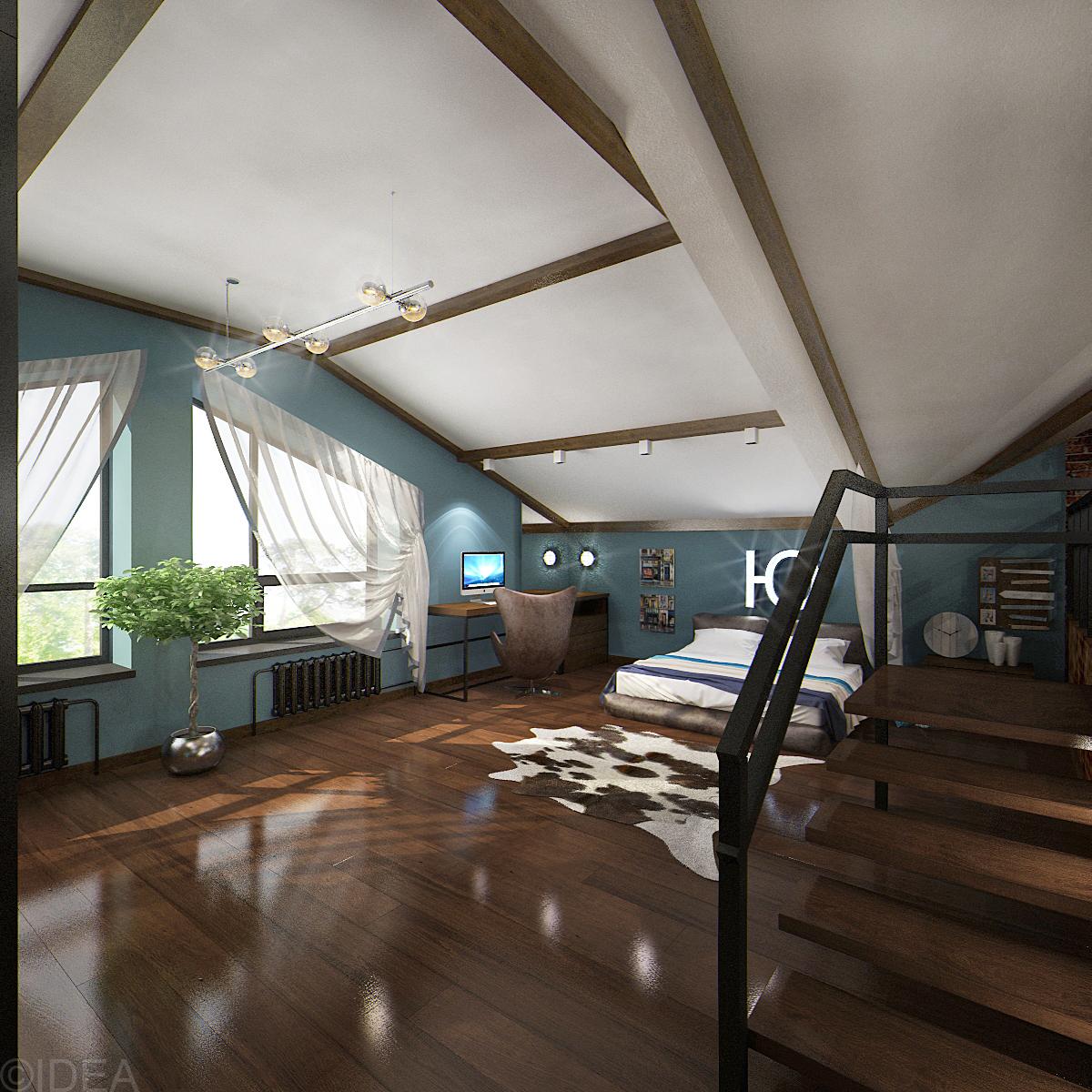 спальня лофт (6)