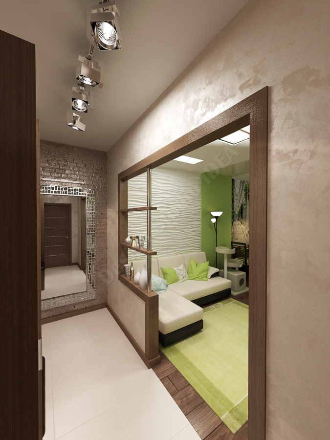 Дизайн студия IDEA дизайн коридора 000 (2)