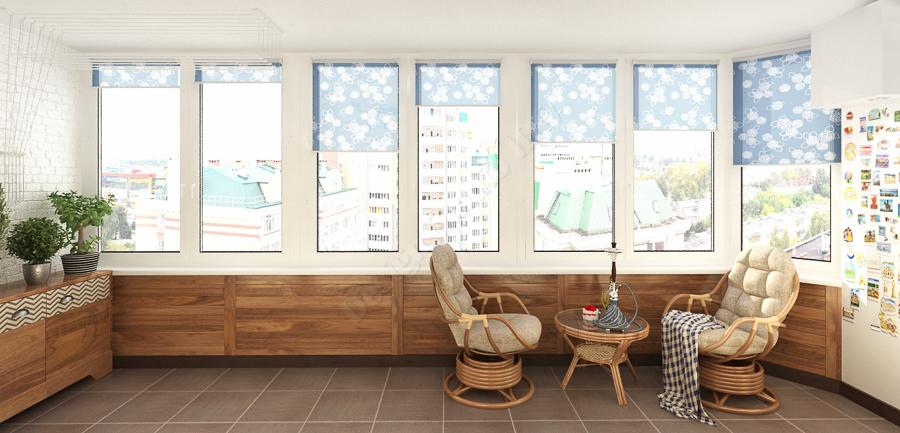 Дизайн студия IDEA дизайн балкона