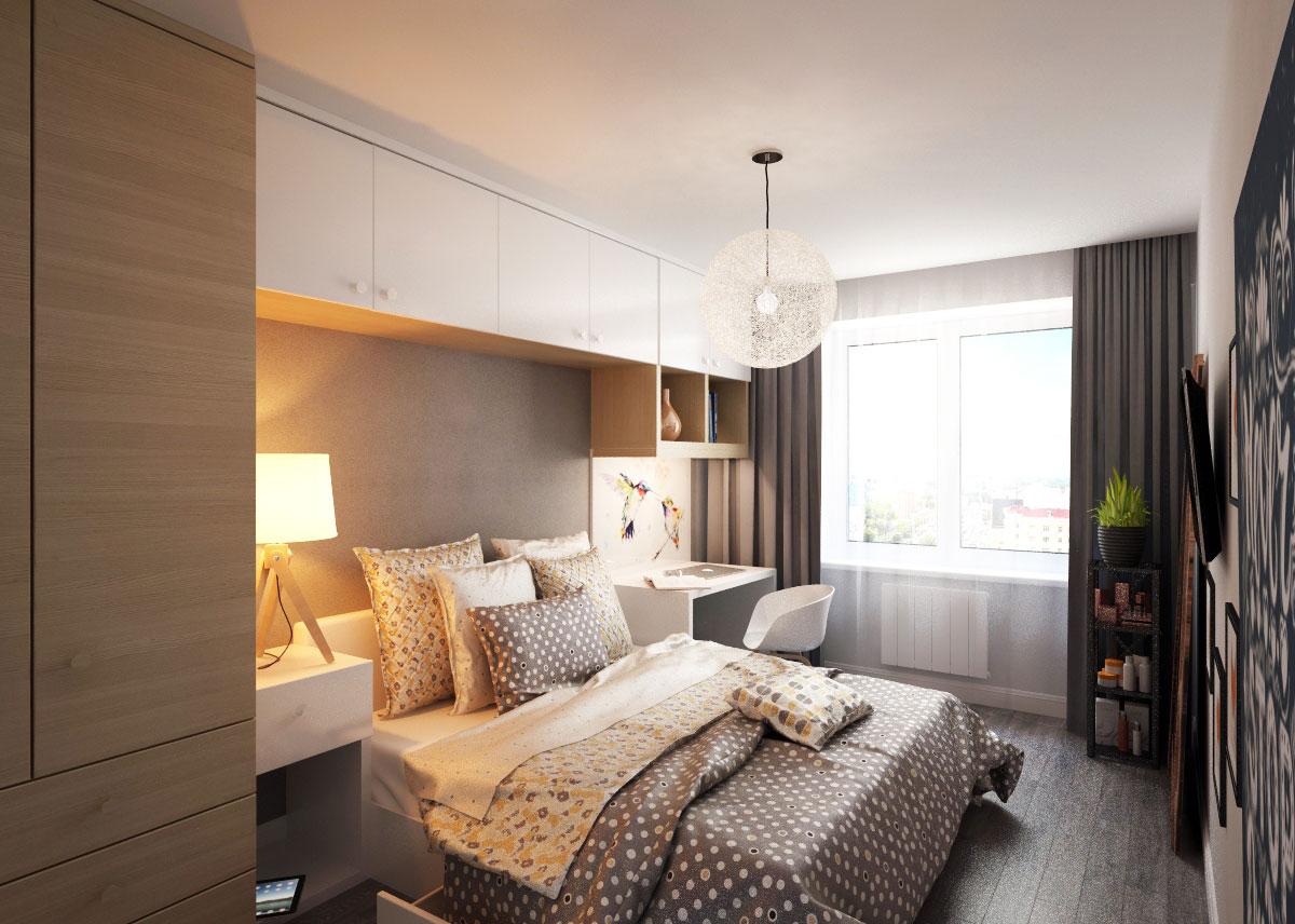 скандинавский стиль спальня (1)