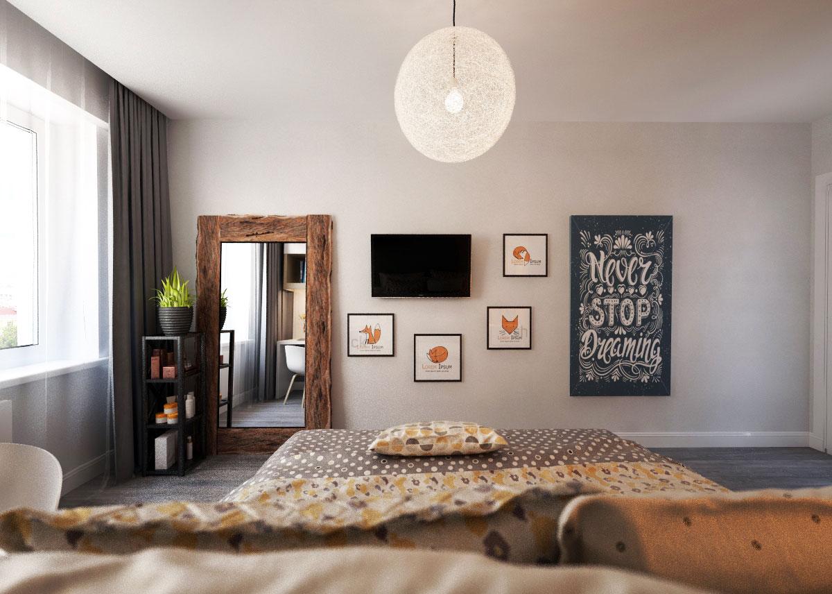 скандинавский стиль спальня (2)