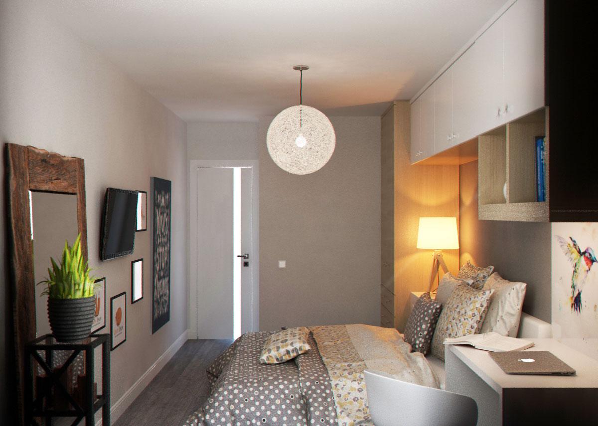 скандинавский стиль спальня (3)