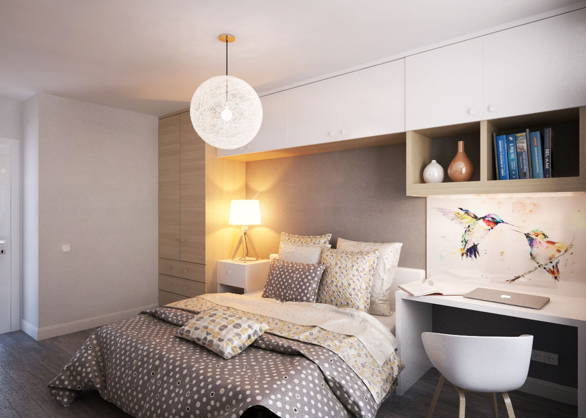 скандинавский стиль спальня (4)